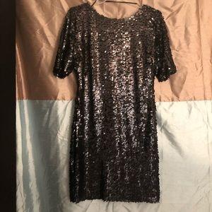 Ark & Co. Black Sequin Women's 3/4 Sleeve Dress